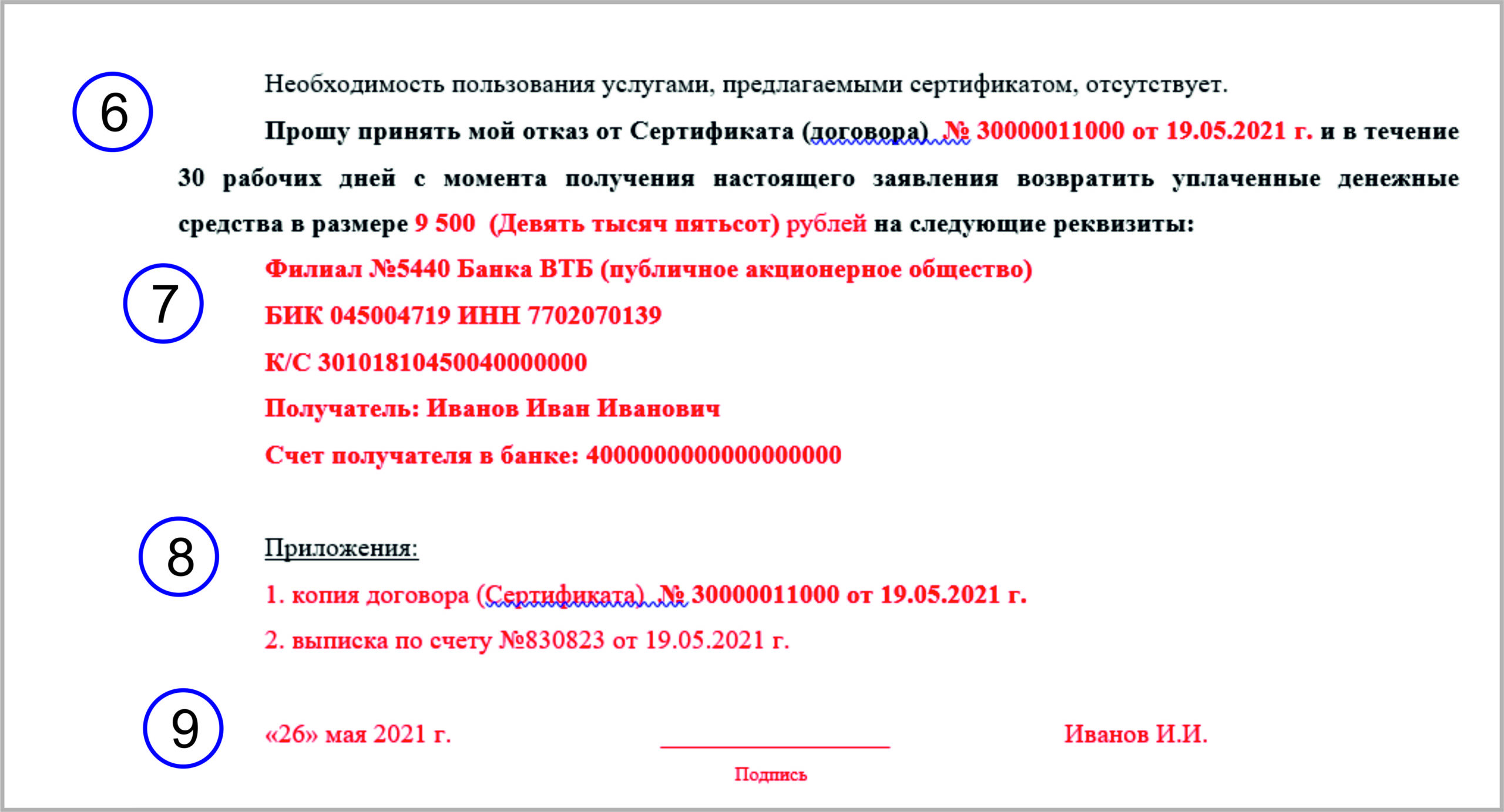 ЕЮС отказ от сертификата: инструкция и заявление на возврат денег
